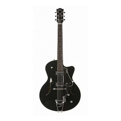 035175 5th Avenue Uptown Black GT w/Bigsby Электрогитара арктоп, с чехлом, Godin